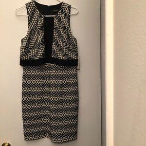 Black & White Shift Dress by Laundry